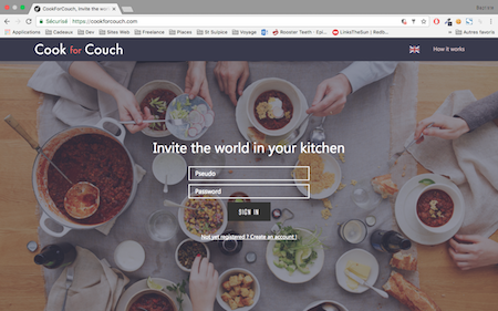 cookforcouch website